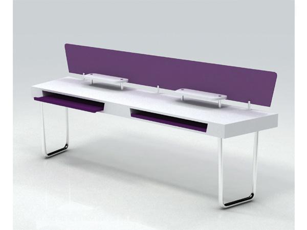escritorio bipersonal con base para teclado 1