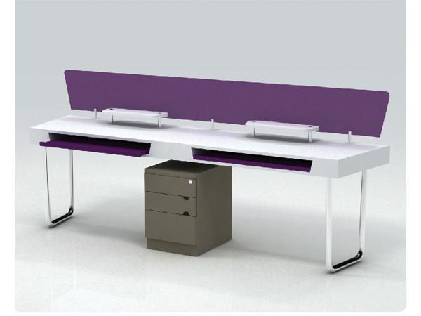 escritorio bipersonal con base para teclado