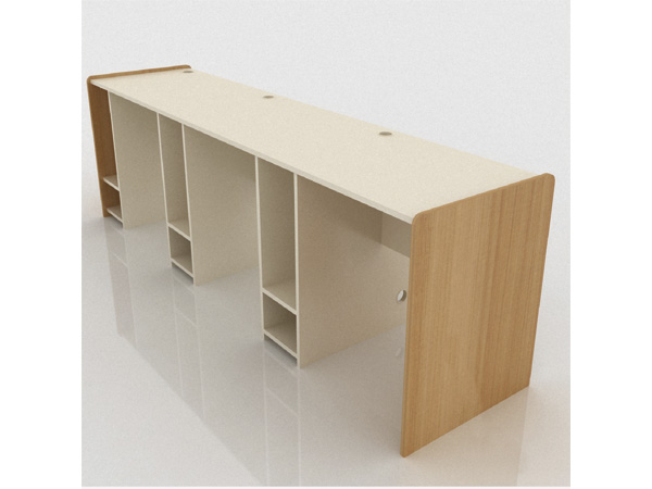 escritorio tripersonal