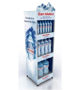 exhibidor agua san mateo