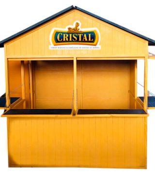 Kiosco cristal elaborado en triplay