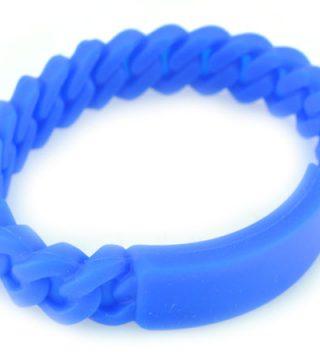 pulseras de silicona azul