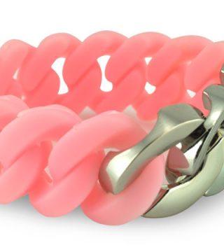 pulsera silicona con accesorio de acero inoxidable
