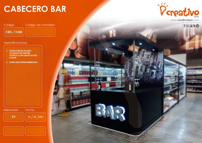 Cabecero bar CBTL-11258