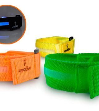 Pulseras con luces led-merchandising