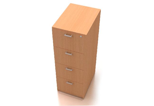 archivador 4 puertas vertical madera melamine mueble para