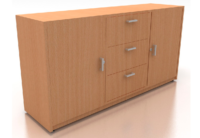 Credenza baja creadenzas muebles para oficina producto for Muebles para almacenar