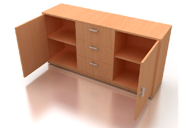 Credenza baja creadenzas muebles para oficina producto for Medidas de muebles para oficina