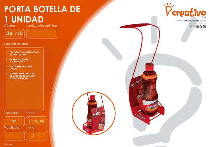 Porta botella de 1 Unidad CBTL-11532