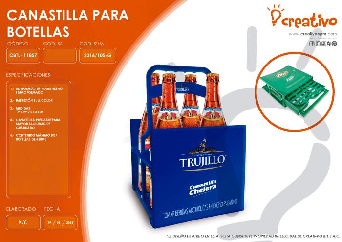 Canastilla para botellas CBTL-11857