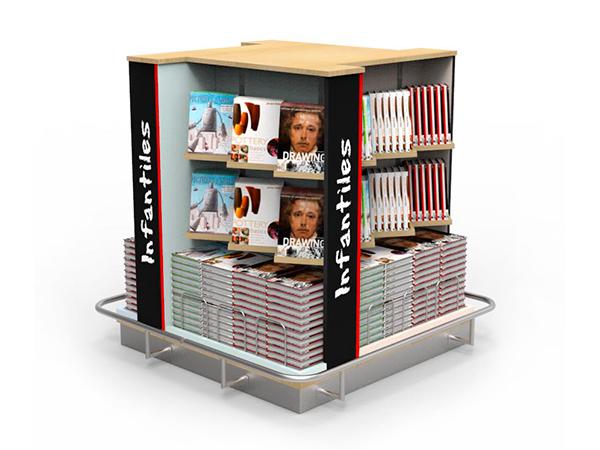 Mueble para libros creativo epm for Muebles para libros