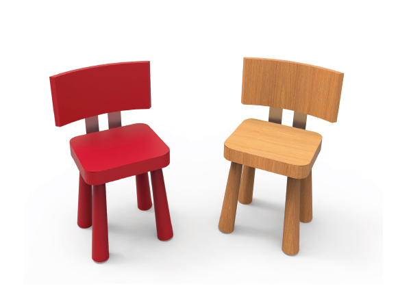 Sillas para ni os muebles mobiliario juego de mesa for Silla de bebe de madera