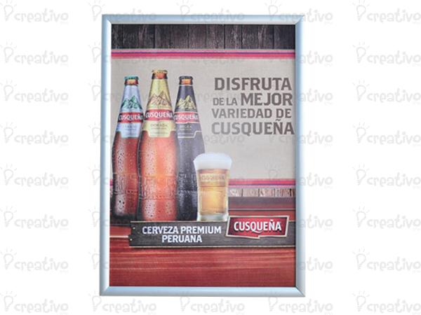 MARCO-ALUMINO-SNAP-ON-VISUAL-MARKETING-MERCHANDISING-PUNTO-DE-VENTA-GRAFICAS-LIMA-PERU
