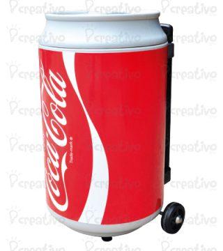 cooler-coca-cola-CON-RUEDAS-DESPLAZABLE-EN-FORMA-DE-LATA-DE-BEBIDA-MERCHANDING-POP