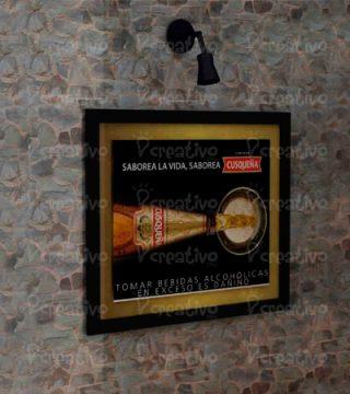 cuadro-iluminado-pop-merchandising-producto-acrilico-madera-metal-backus-cusqueña-venta-de-cuadros-para-supermercados-tiendas-por-departamento