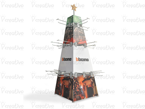 isla-arbol-de-navidad-bticino-isla-de-exhibicion-publicidad-blt-punto-de-venta-lima-peru