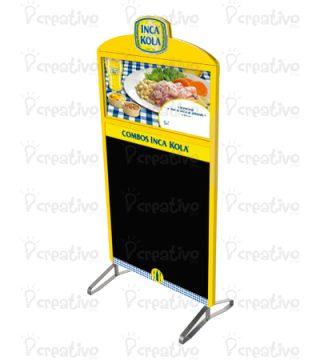 pizarra-de-acero-inoxidable-lindley-inca-kola-merchandising-btl-publicidad-venta-lima-peru