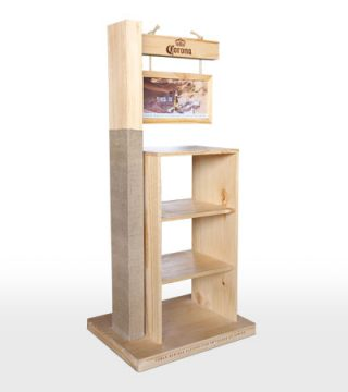 exhibidor-rack-corona-marketing-madera-pino-pop-creativoepm