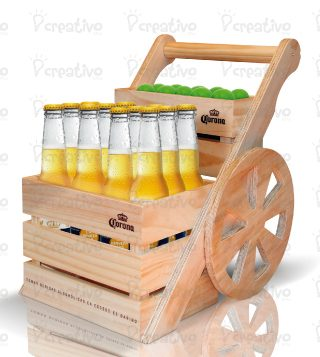 carrito-madera-corona-sunset-display-publicidad-btl